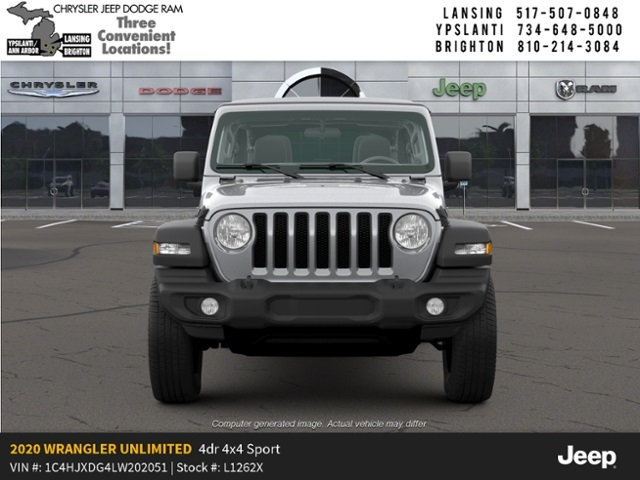 New 2020 JEEP Wrangler Unlimited Sport